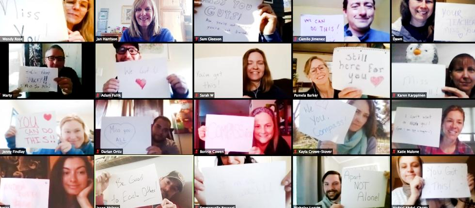 teachers on zoom