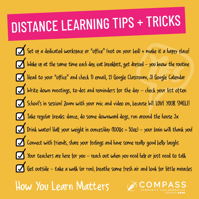 tips and tricks for successful distance learning