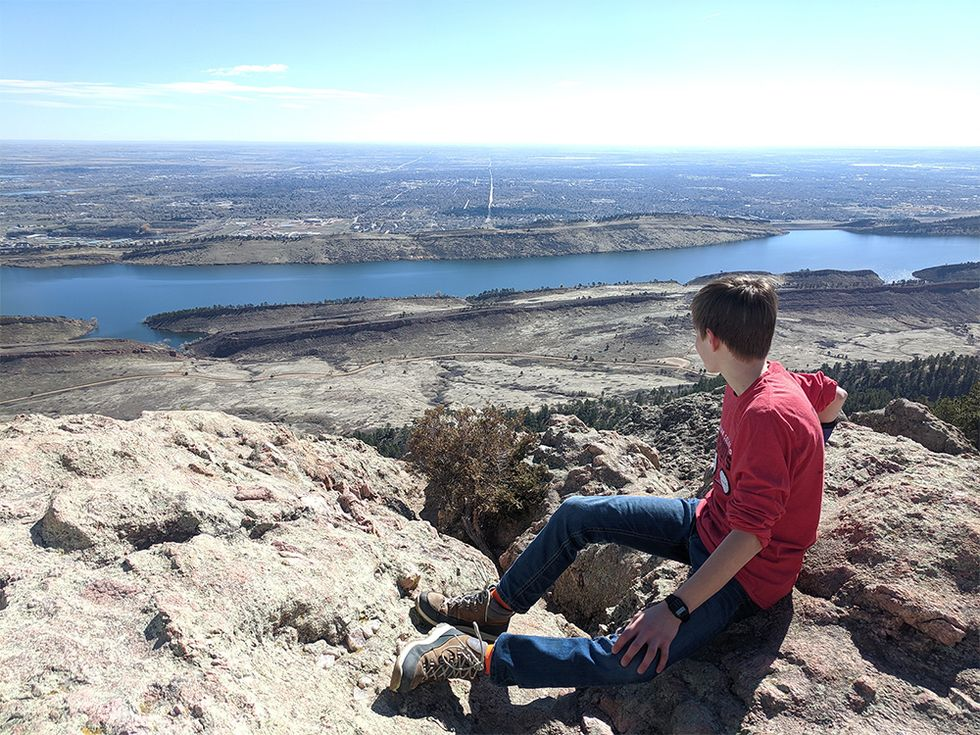Rhoen has been recharging physically, mentally and emotionally by hiking in Lory State Park. Nice shot Rhoen!