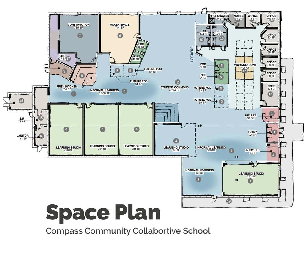 Floor Plan Design of Campus