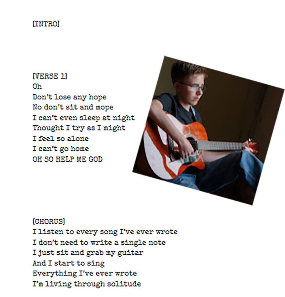 Writing songs.