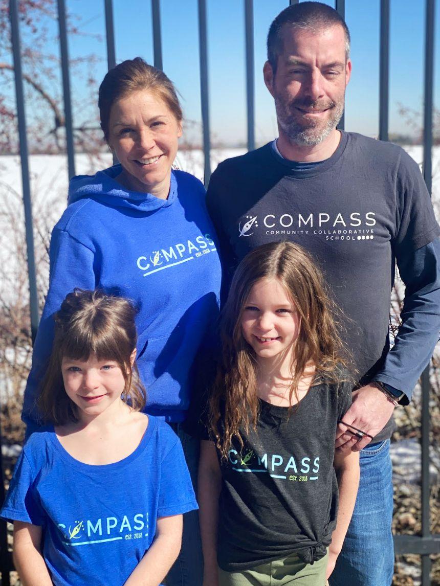 The Compass Family—Katie, Jason and kiddos Lane and Ryan.