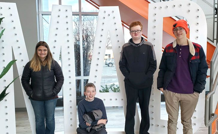 Students visited Madwire as part of career exploration.