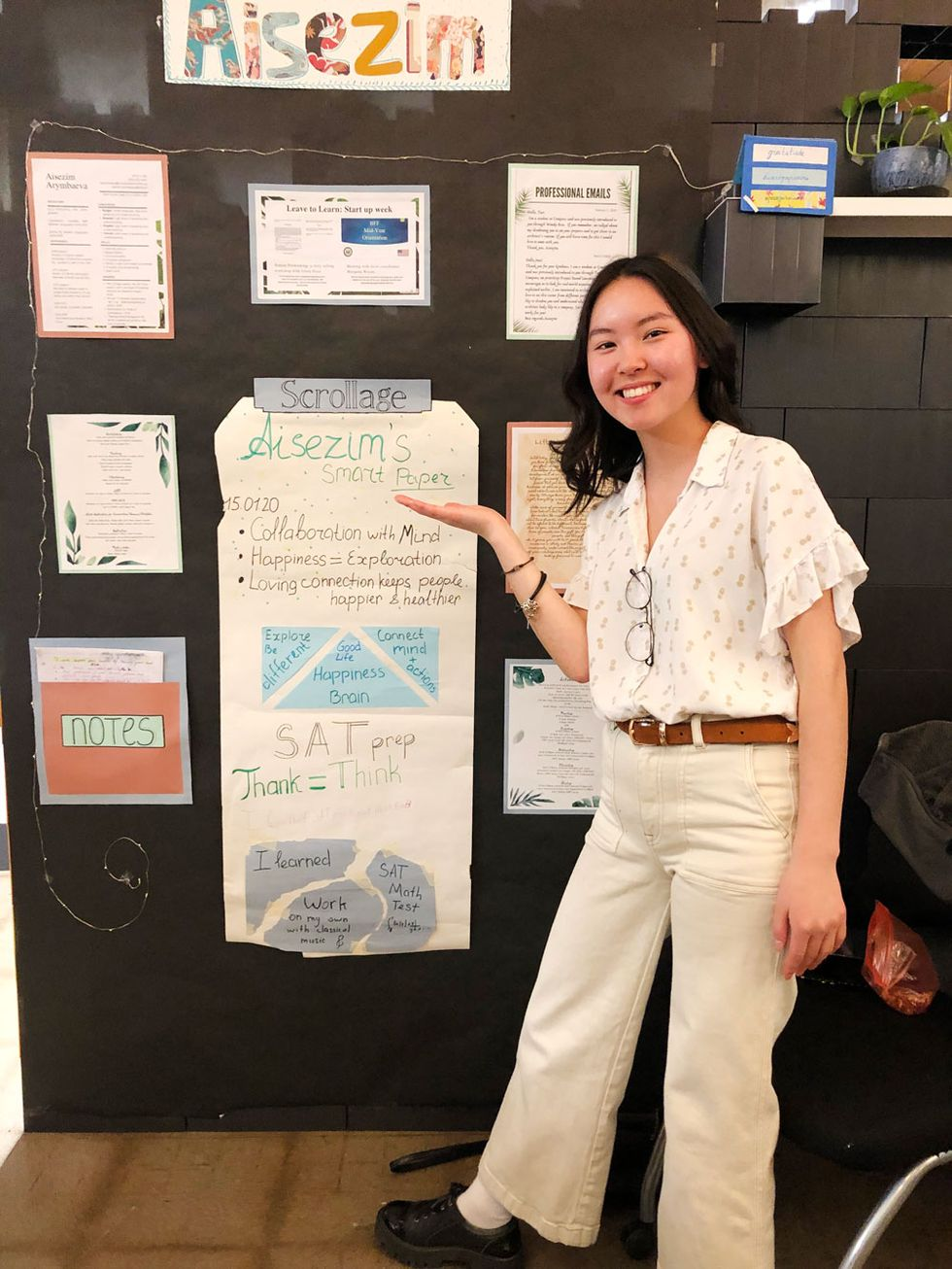 Aisezim had a beautiful display of her learning in her 11th grade experience.
