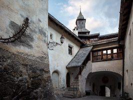Interior court-yard, Chastè da Tarasp, Schloss Tarasp, Tarasp Castle