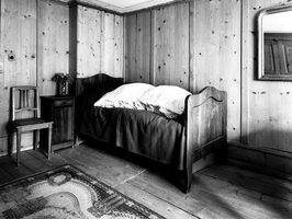 Not Vital, Nietzsches Mustache in Nietzsches Bed in Sils Maria, installation