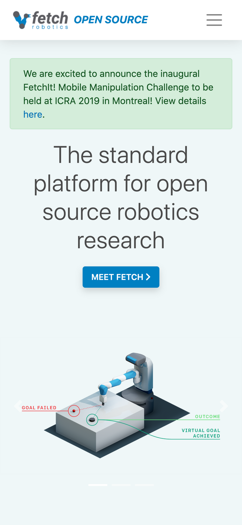 View Fetch Robotics Open Source Site project page