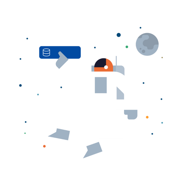 Astronaut Creating a database