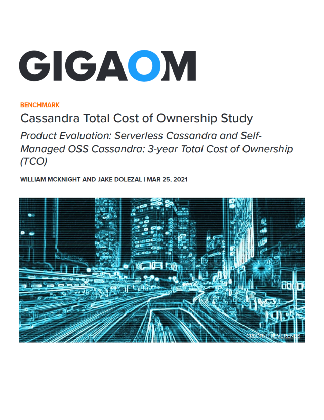 Cassandra Total Cost of Ownership Study Cover