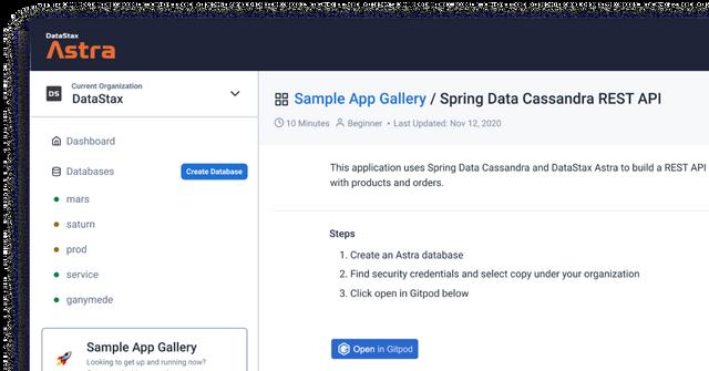 DataStax Sample Gallery