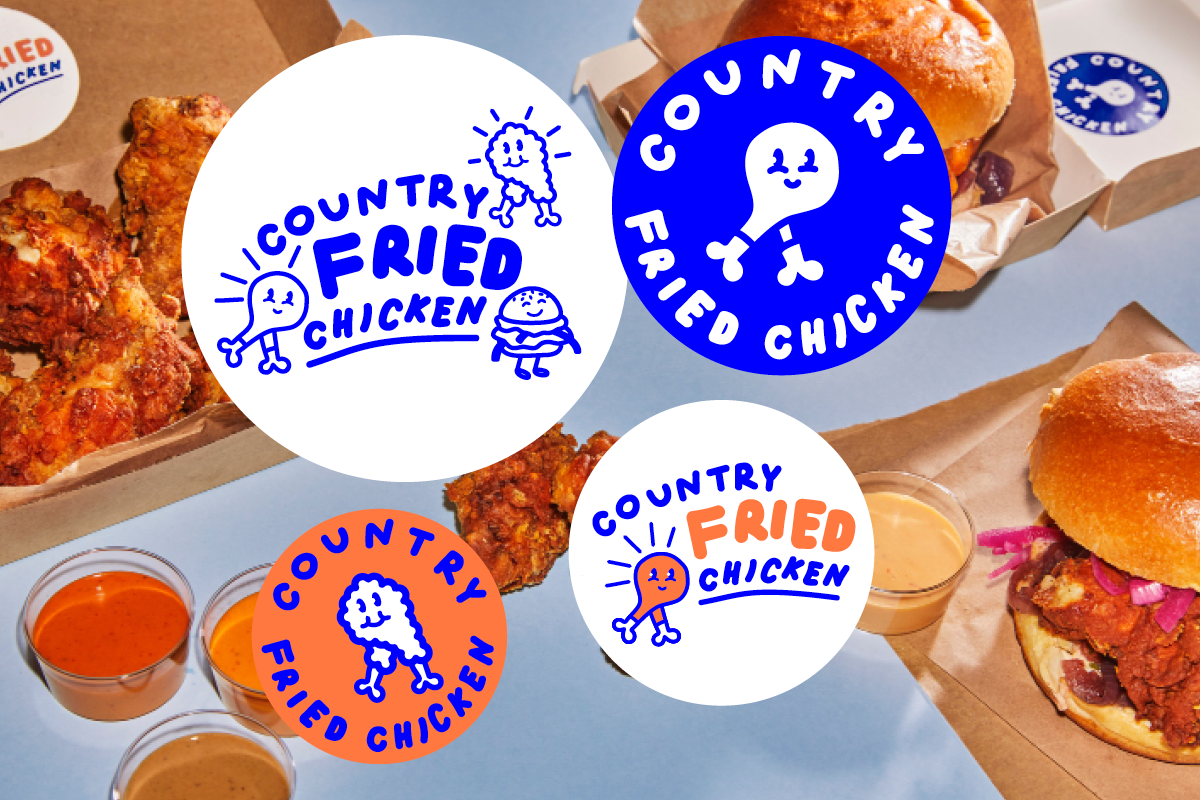 Logo for Country fried chicken