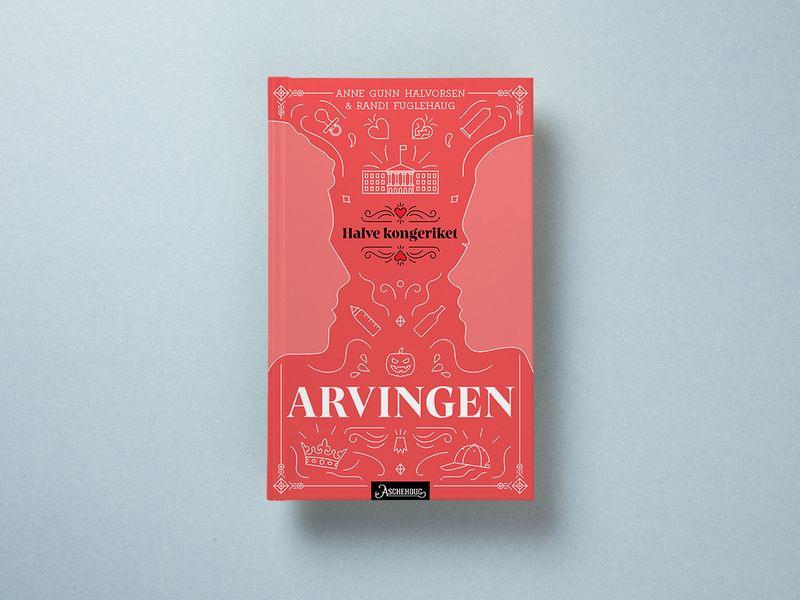 Et bokomslag med illustrasjoner