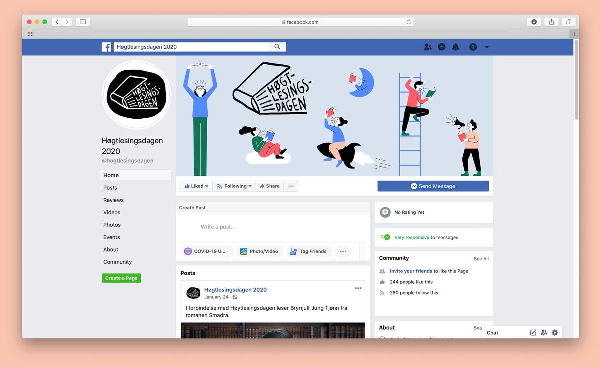 Facebook profilbilde og coverfoto
