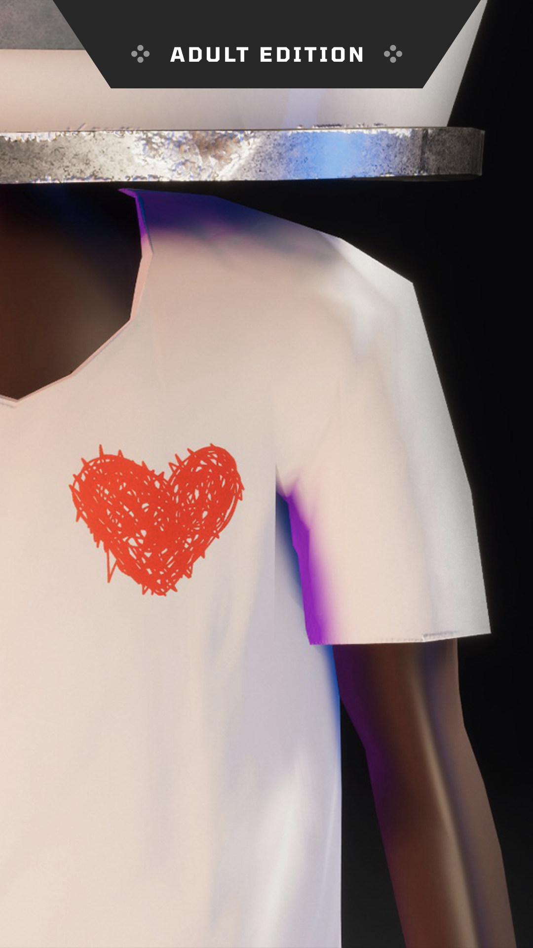 Heart Logo of the All Can Thrive Adult Shirt
