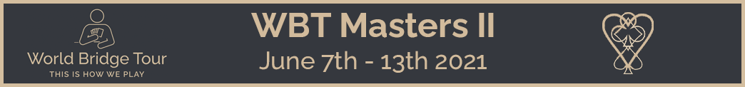 WBT Masters II banner image, from 7th of June to 13th of June. Click here to go to the results website.