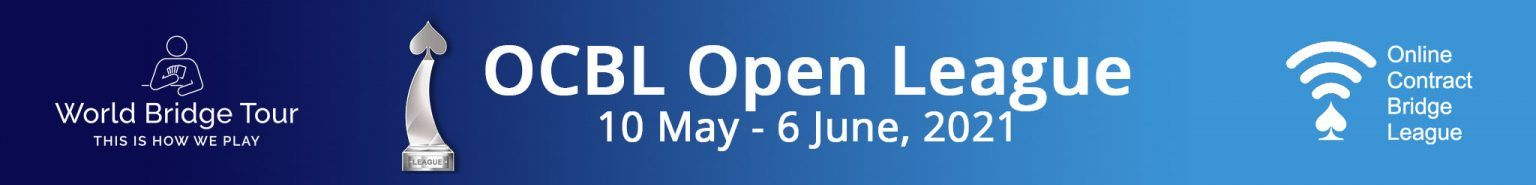 OCBL Open League banner image, from 10th of May to 6th of June. Click here to go to the results website.