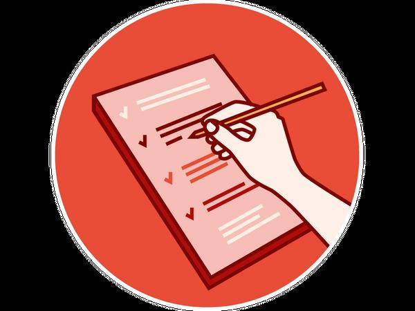 Illustrasjon: Fyller ut sjekkliste