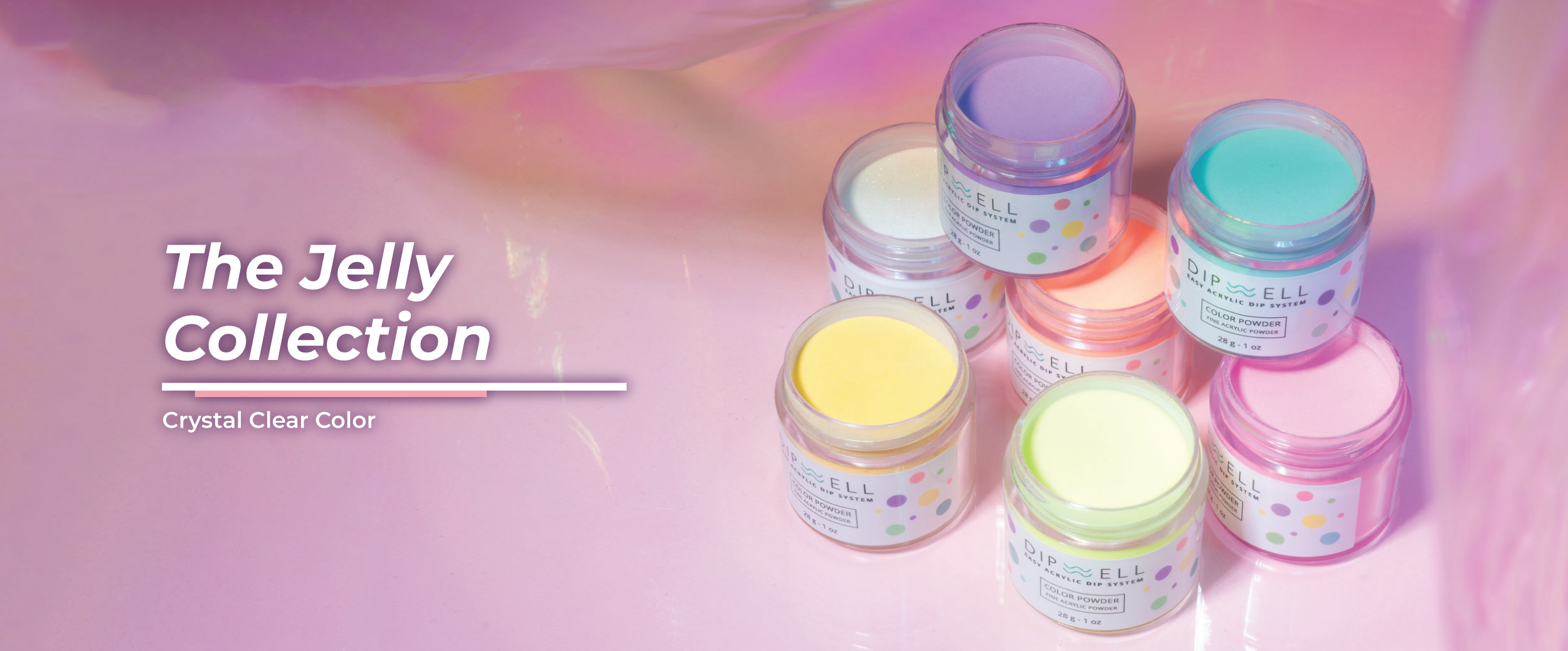 Jelly Transparent Nail Dip Powder | DipWell