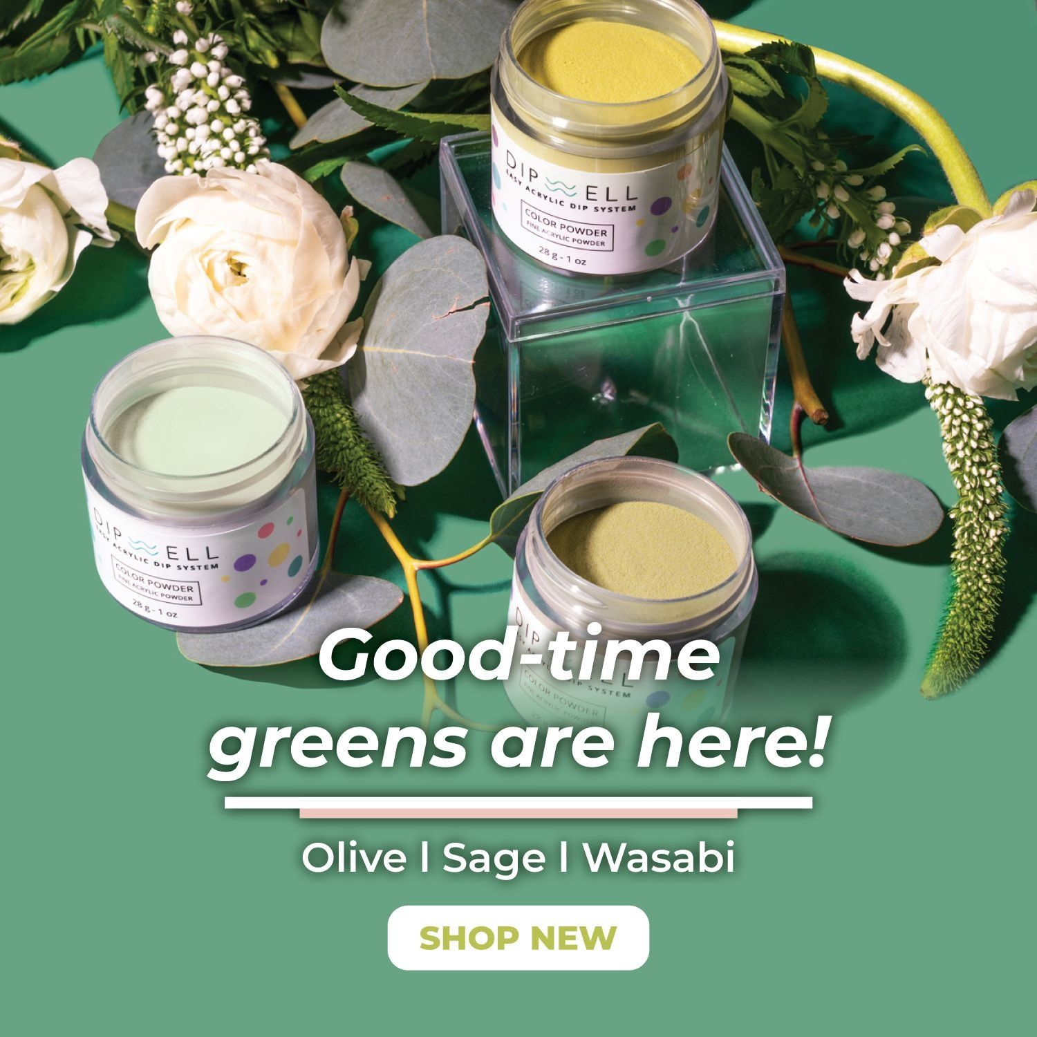 Green Dip Powder for Nails | DipWell