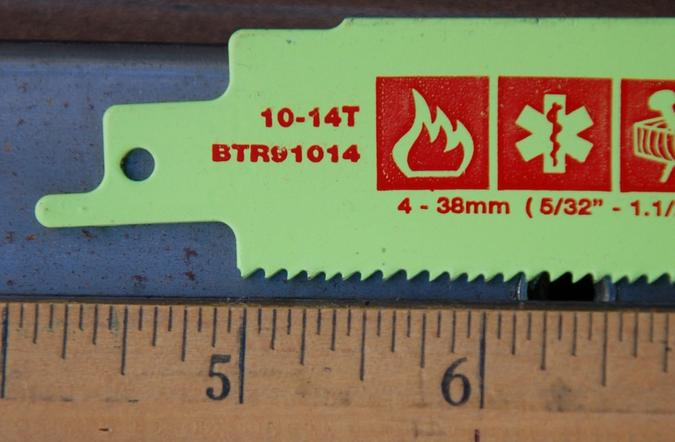 10-14-TPI Reciprocating Saw Blade