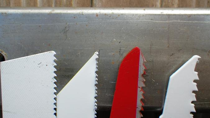 Reciprocating saw blade examples