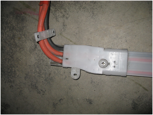 Examples of DC Orange Wires from Battery to Inverter