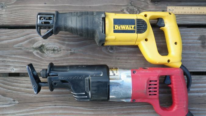DeWalt and Milwaukee saws