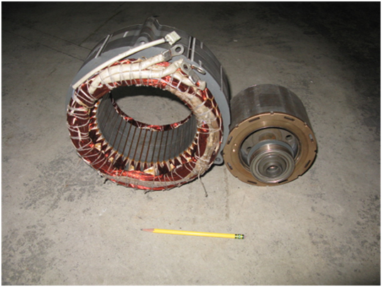 Example of a Lexus Rx400h Traction Motor