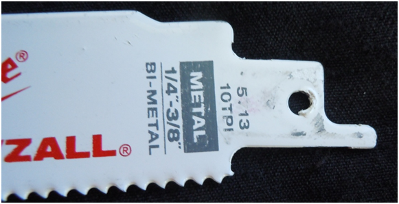 Paint in Reciprocating Saw Blade