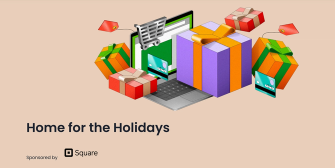 Holiday promo with Square logo