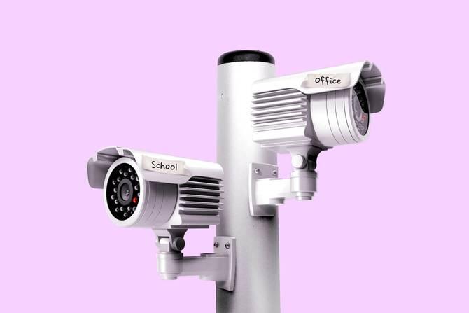 surveillance cameras pointing