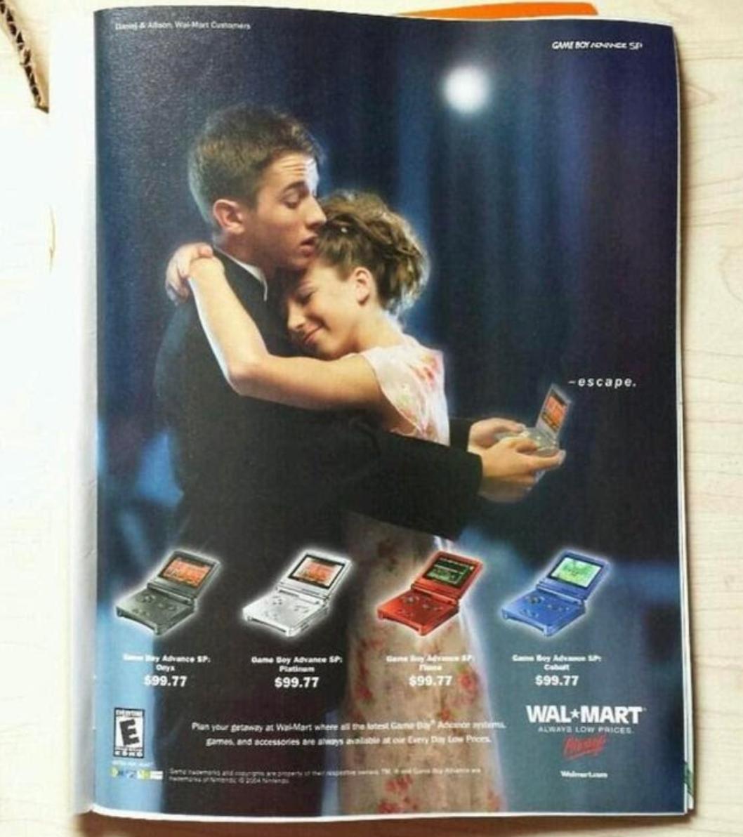 A vintage Walmart/Game Boy ad