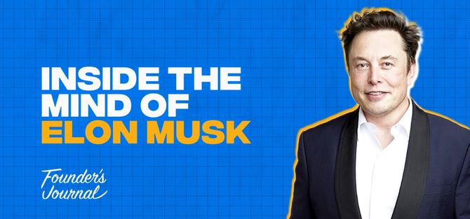 Elon Musk image for Founder's Journal