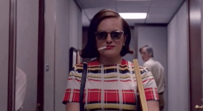 Peggy from Mad Men quitting her job