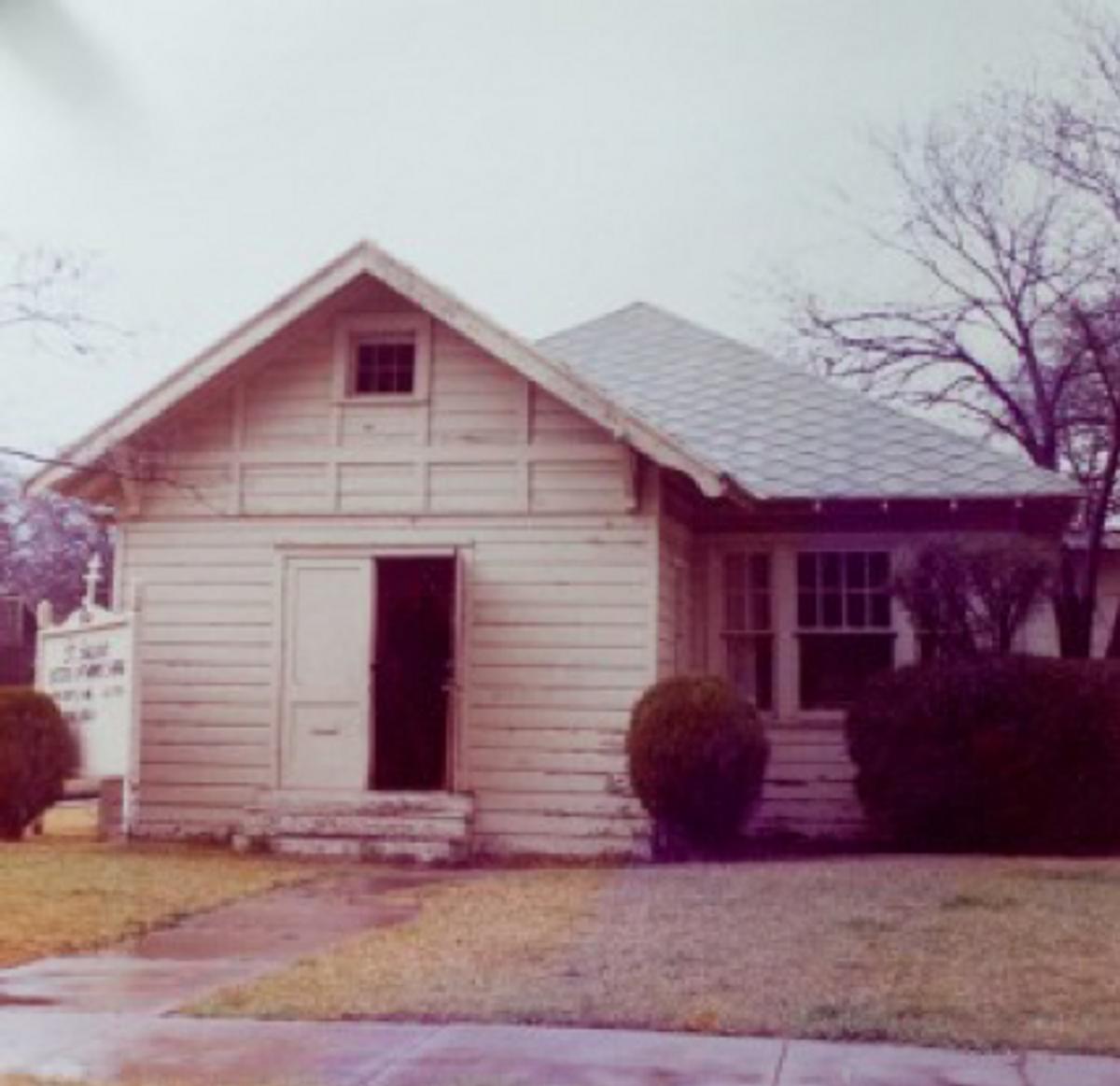 First permanent building of St. Seraphim Parish at 4208 Newton Avenue.
