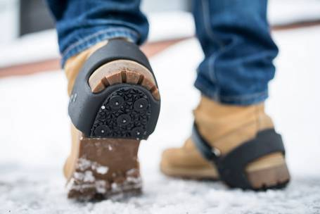 Staying on your feet with ice grippers