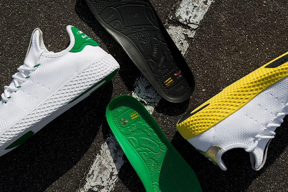 Pharrell Williams X Adidas Tennis Hu White Green2
