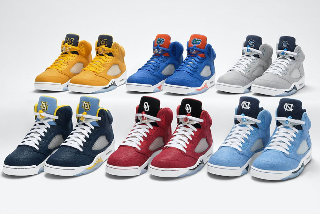 air jordan 5 pe march madness college on white
