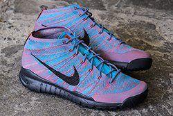 Nike Fly Knit Trainer Chukka Fsb Blue Lagoon Brghtcrmsn Thumb