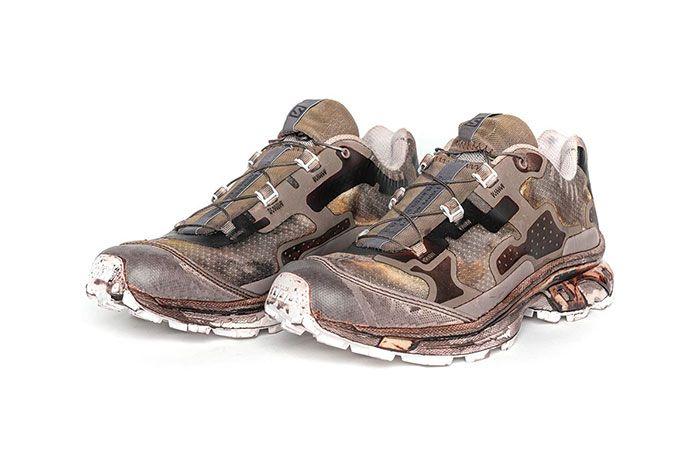 11 By Boris Bidjan Saberi X Salomon Spring Summer 2020 Footwear Brown Low Lateral Three Quarter Angled Side Shot