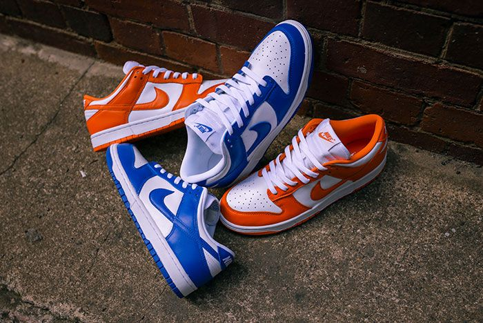 Nike Dunk Low Kentucky Syracuse Up Close Hero Shot Laced Sneaker Freaker6