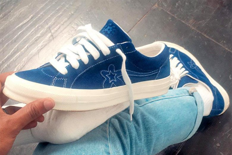 Tyler The Creator Converse One Star Navy Sneaker Freaker