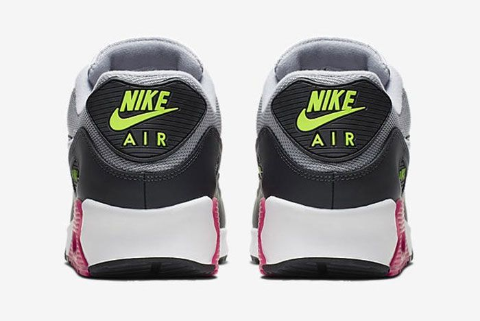 Nike Air Max 90 Pink Grey Volt Aj1285 020 Rear