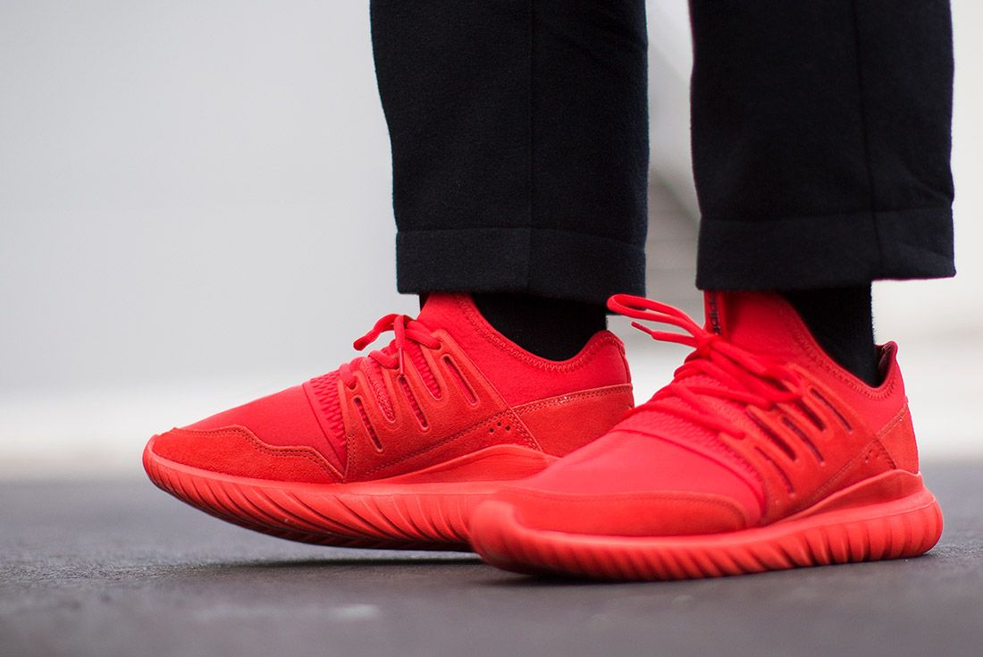 Adidas Tubular Radial Red 1