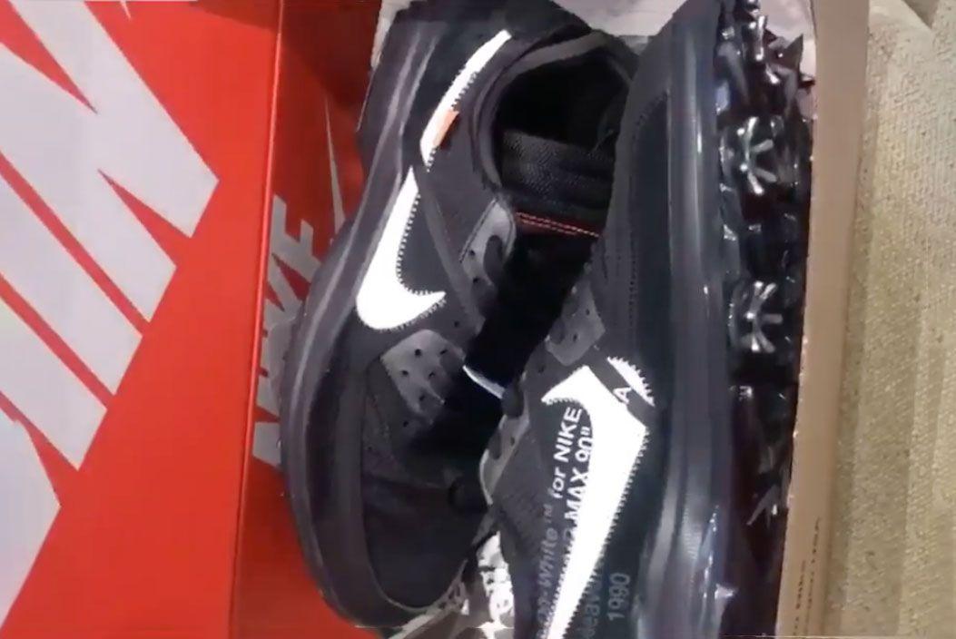 Off White Nike Air Max 90 Golf Shoe Brooks Koepka