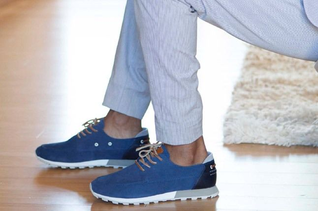Clae Spring Collection Blue With Serrated Sole 1