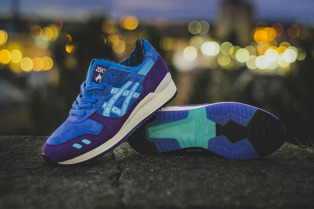 hanon asics gel lyte iii solstice lateral three quarter angle shot