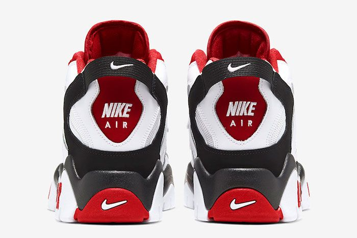 Nike Air Barrage Mid White Red At7847 102 Heel