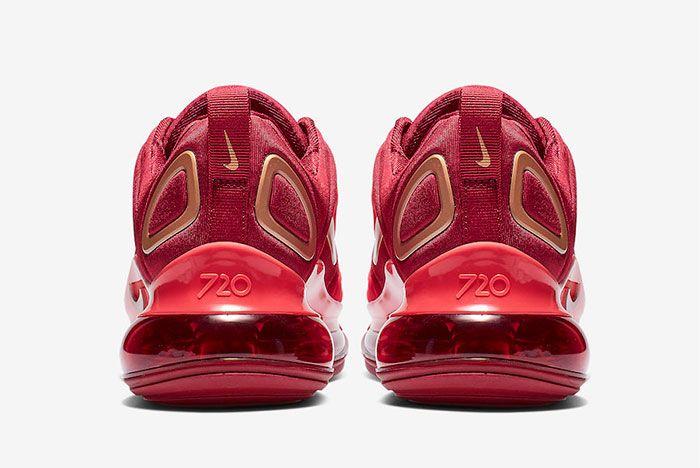 Nike Air Max 720 Team Crimson Heel