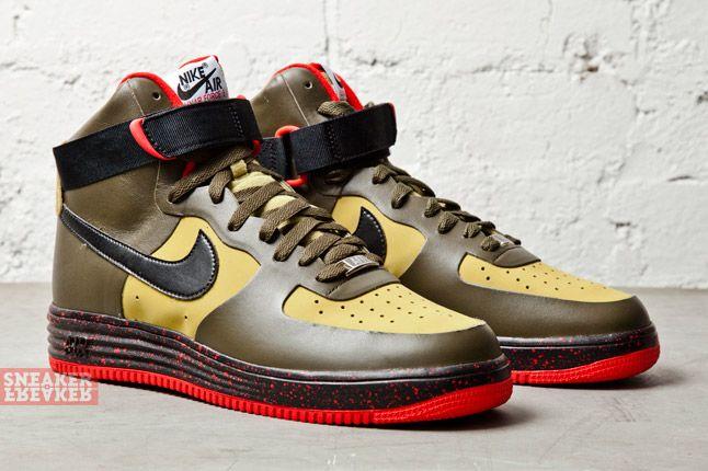 Nike Lunar Force 1 Ns Hi Prm Parachute Gold Black 2